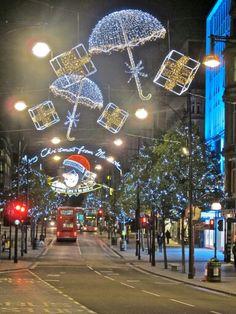 Oxford Street , London  Christmas 2015