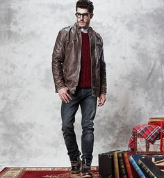 The Apex Mandarin Short Trench Brown – Leather & Cotton Business Casual Dresses, Casual Outfits, Men Casual, Suede Jacket, Bomber Jacket, Wedding Album Design, Cold Weather Fashion, Summer Wear, Menswear