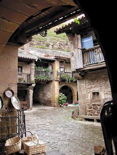 Barcena Mayor, Amazing village in Cantabria, Spain - Hapva. Beautiful Buildings, Beautiful Places, Places To Travel, Places To See, Rivers And Roads, Regions Of Europe, Parque Natural, Spanish Architecture, Spain Travel