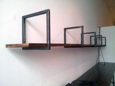 Marked caused diy welding projects ideas Forward to a friend - Modern Decor, Man Cave Decor, Shelves, Industrial Furniture, Steel Shelving, Diy Welding, Masculine Decor, Cool Welding Projects, Shelving