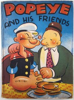 Popeye and His Friends, Popeye The Fighting Sailor Man 1937 Book Whitman