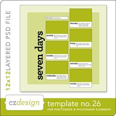 Cathy Zielske's Layered Template No. 026 - Digital Scrapbooking Templates