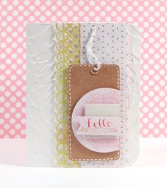 Hello there! :) Kristina here with another card and video. This card started with a tag from Pebbles . I love the pale colors on the e. Stampin Up, Simon Says Stamp Blog, Miss You Cards, Cardmaking And Papercraft, Pink Cards, Artist Trading Cards, Card Maker, Craft Party, Cute Cards