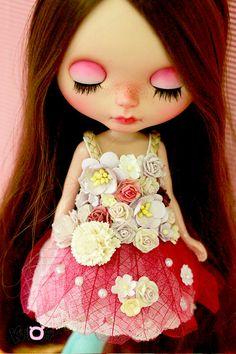 Blythe Fairy flowers Dress by kuloft on Etsy