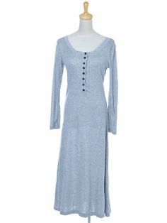 Anna-Kaci S/M Fit Light Heather Grey Button Basic Everyday Wear Long Maxi Dress Anna-Kaci,http://www.amazon.com/dp/B0092737Z2/ref=cm_sw_r_pi_dp_QB1Rsb025FS3D5ZD