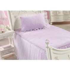Ball Gown Lilac Twin Bed Set