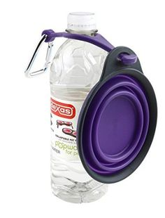 10$  Amazon.com: Dexas Popware Travel Pet Cup with Bottle Holder and Carabiner, Gray/Blue: Pet Supplies