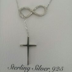Infinity&cross necklace Stamped 925 with CZ stones. Brand new Jewelry Necklaces