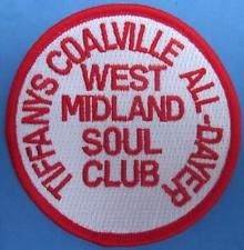 NORTHERN SOUL PATCH - WEST MIDLANDS SOUL CLUB ALLDAYER - TIFFANYS COALVILLE 1977 Soul Patch, Northern Soul, West Midlands, King Logo, Patches, Club