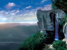 "'Lovers Leap' at Lookout Mountain at ""Rock City"" in Chattanooga, Tennessee, USA.  From the observation area, you can see seven U.S. states! (AL, GA, TN, SC, NC, KY and VA)."
