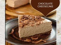 Chocolate Cheesecake Recipe from Mamma's Recipes Baileys Cheesecake, Chocolate Cheesecake Recipes, Baking Recipes, Dessert Recipes, Chocolate Mousse Pie, Sweet Tarts, Food Cakes, Love Food, Delicious Desserts