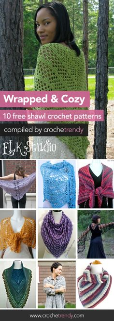 10 Free Shawl & Wrap Crochet Patterns  |  Free Crochet Pattern Roundup by Crochetrendy.com