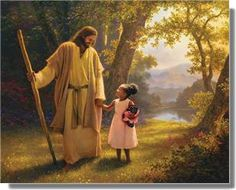 Jesus with young girl