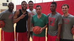Our men's basketball team has many fans - including Adam Sandler!
