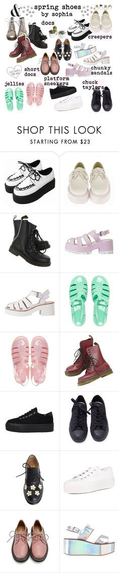 """""""spring shoes im diggin"""" by dear-fashion ❤ liked on Polyvore featuring Retrò, Dr. Martens, Lily White, JuJu, Dorothy Perkins, Windsor Smith and Pier 1 Imports"""