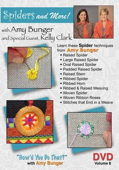 DVD #8  Spiders and More! needlepoint instructional DVD with Kelly Clark & Amy Bunger