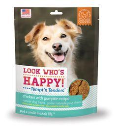 Look Who's Happy Tempt'n Tenders Chicken with Pumpkin Recipe Dog Treats 4 oz