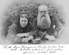 Madame Blavatsky and Henry Steel Olcott. Co-founders of the Theosophical Society. 1888 New York.