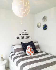 Cute simple boys room.