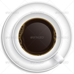 Description: White Cup with Coffee on Saucer. Top view.  You get: Editable EPS Render in JPG format (high resolution 50005000px)