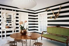 Loving the stripes, but worried that my enthusiasm would be short-lived if it was on my walls.