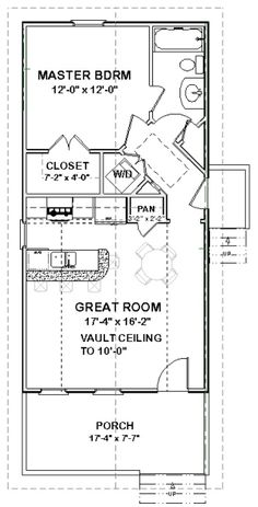 Details about Custom Tiny House Home Cottage Building Plans 1 bed 648 sf ---PDF file The Plan, How To Plan, Mother In Law Cottage, In Law House, Casas Containers, House Blueprints, Tiny House Living, Small Living, Small House Plans