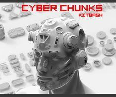 Cyber Chunks kitbash by Fedor Losev