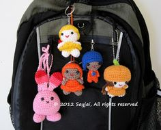 How to attach a Doll to a Bag or Keyring ~ Amigurumi crochet patterns ~ K and J Dolls / K and J Publishing