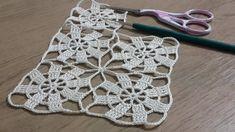 Crochet Motifs, Hand Crochet, Crochet Lace, Crochet Stitches, Free Crochet, Crochet Patterns, Lace Scarf, Crochet Cardigan, Bijoux Art Deco