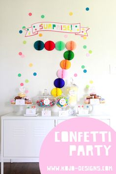 confetti inspired birthday decoration - could use # to decorate front door.