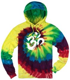 "Mens BRUSHSTROKE AUM Tie Dye Hoodie, XL Michaelangelo. This trendy men's tye dye hoodie features the sacred OM symbol!. Inspired by the great Michaelangelo, this tie dye hoodie is one of a kind!. Superior Polyester/Cotton blend. Wearing this mid-weight hoody is like surrounding yourself with luxury. ""Yoga Clothing for You"" guarantees your satisfaction on every purchase!."