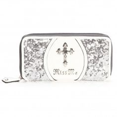 Miss Me Cross Zip Wallets - Accessories - Womens