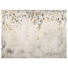 Foil Leaves Oil Painted Canvas | Bouclair.com