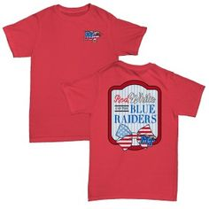 watch aace7 080e3 Red White   Blue Raiders Comfort Colors Pocket tee Comfort Colors, Red And  White,