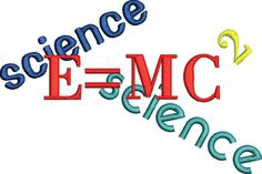 Science Geek Nerd E MC 2 embroidery file by FRenee2 on Etsy