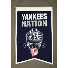 New York Yankees Wool Nations Banner Yankees Gear, Yankees Logo, Ny Yankees, Yankees Baby, Baseball Playoffs, New York Yankees Baseball, Soccer Jerseys, Nascar News, Wall Banner