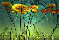 The Moon Garden Lounge Underwater Plants, Underwater Painting, Underwater Photography, Nature Photography, Birch Tree Art, Pond Life, Patterns In Nature, Painting Inspiration, New Art