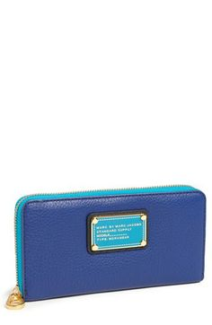 MARC BY MARC JACOBS 'Classic Q - Vertical Zippy' Wallet available at #Nordstrom Color Combos, Marc Jacobs, Zip Around Wallet, Wallets, Nordstrom, Purses, My Style, Classic, Shopping
