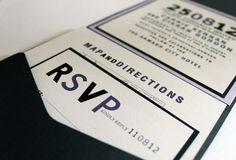 Wedding or Corporate Invitation Envelopment, contemporary style