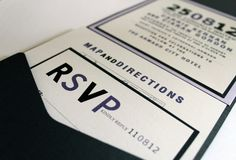 Wedding or Corporate Invitation Envelopment, contemporary style