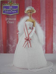 Annie's Attic Crochet Fashion Bed Doll Pattern Royal Court Princess Grace