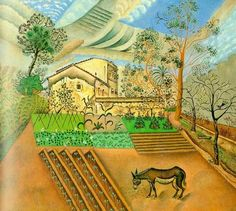 Joan Miro: Vegetable Garden with Donkey - 1918
