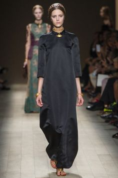 #Black #silk for #summer is always fashionable, and #Valentino does it better than anyone else; this column dress with #gold detailling is superb...superb.