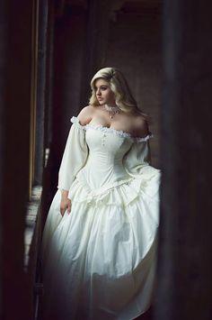 Cinderella Wedding Gown in Cotton - Summer Bridal Gown- Fairytale Fantasy Ballgown -Custom to Order