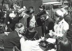 June 20, 1943. Jews are gathering for registration at an assembly point at the Polderweg after raids. Jewish Historical Museum. #amsterdam #worldwar2