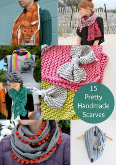 15 Great Ideas For DIY Scarves - diycandy.com I'm digging this website for DIY projects and/or project inspirations.
