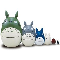 """My Neighbor Totoro"" matryoshka nesting dolls"