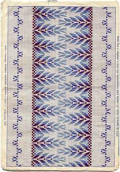 Bordado yugoslavo | Aprender manualidades es facilisimo.com  some older Huck/Swedish Embroidery patterns.