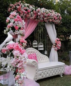 Dear 2019 Brides to be💍get in here or Tag your engaged bestie for some serious BRIDAL SHOWER Inspo💕💍🌺💐🌸 For… Desi Wedding Decor, Wedding Hall Decorations, Quinceanera Decorations, Marriage Decoration, Wedding Mandap, Backdrop Decorations, Wedding Events, Backdrops, Weddings