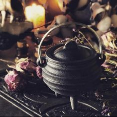 Small Cauldron - Cast Iron Cauldron Mini for Ritual, Incenses & Resins Small Cauldron - Cast Iron Cauldron Mini for Ritual, Incenses Cast Iron, It Cast, Autumn Witch, Pagan Altar, Witches Cauldron, Season Of The Witch, Witch House, Witch Aesthetic, Practical Magic
